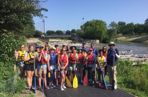 Canoeing with Legislators on the Chicago River