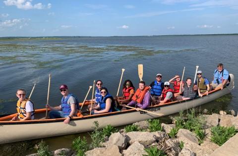 IEC Staff Retreat at the Emiquon Wildlife Refuge